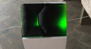 Libro di vetro - verde smeraldo